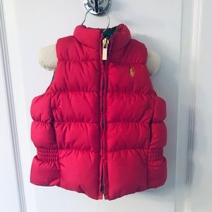 Ralph Lauren Reversible Pink & Green Down Vest!